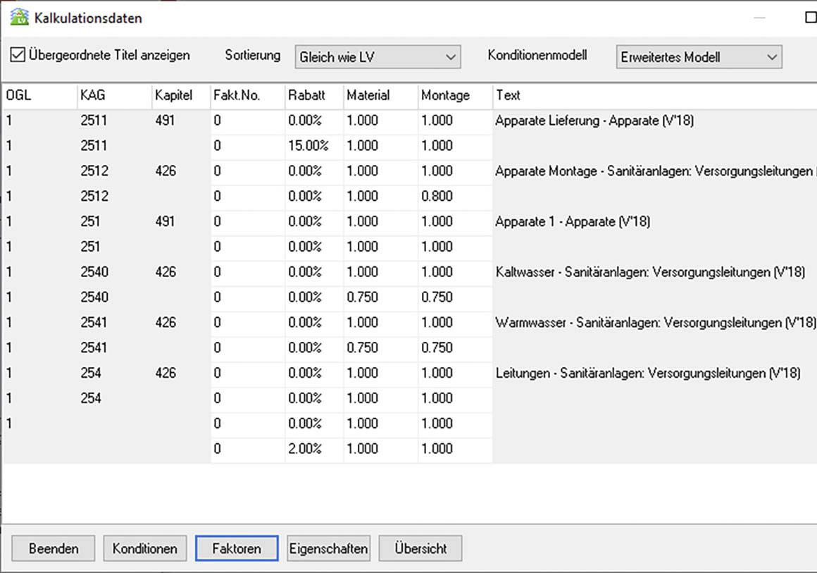 Win_LV Erfassen von Rabatten und KG-Faktoren