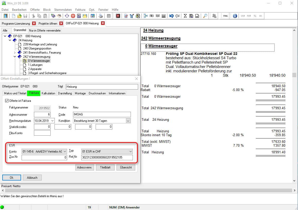 Configuration des factures avec bordereau de versement Win_OD