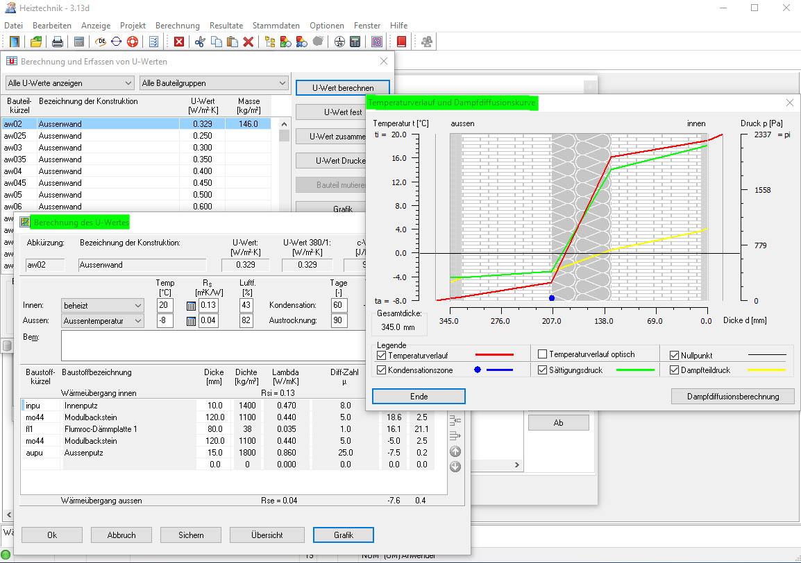 Win_HT U-Wertberechnung mit Grafik